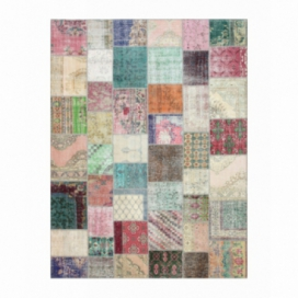 Vintage alfombra retazos color various (405x306cm)