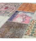 Vintage tapis de patchwork couleur various (405x306cm)