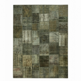 Vintage patchwork rug color dark grey (405x307cm)