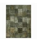 Vintage alfombra retazos color dark grey (405x307cm)