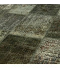 Vintage patchwork rug color dark grey (405x307cm)