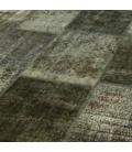 Vintage tapis de patchwork couleur dark grey (405x307cm)