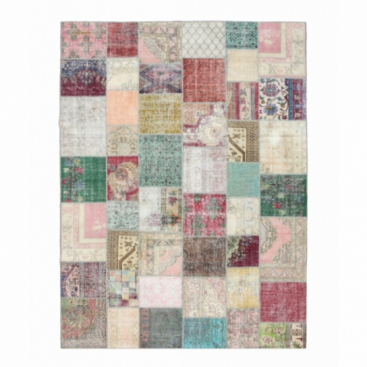 Vintage alfombra retazos color various (406x304cm)