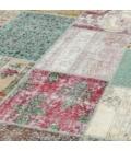 Vintage patchwork flicken teppich farbe various (406x304cm)