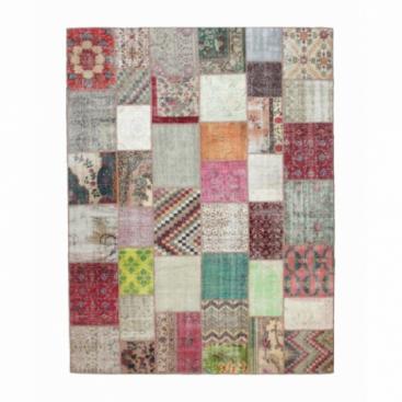 Vintage patchwork rug color various (406x305cm)