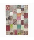 Vintage tapis de patchwork couleur various (406x305cm)