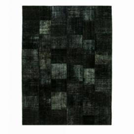 Vintage patchwork flicken teppich farbe black (407x302cm)