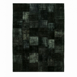 Vintage patchwork rug color black (407x302cm)