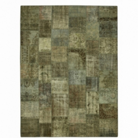 Vintage patchwork rug color natural (408x305cm)