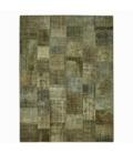 Vintage patchwork flicken teppich farbe natural (408x305cm)