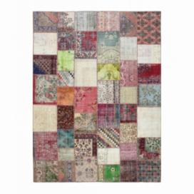 Vintage tapis de patchwork couleur various (409x303cm)
