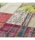 Vintage patchwork rug kleur various (409x303cm)