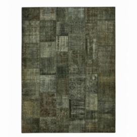 Vintage alfombra retazos color dark grey (410x304cm)