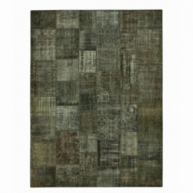 Vintage patchwork rug color dark grey (410x304cm)