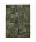 Vintage patchwork flicken teppich farbe dark grey (410x304cm)