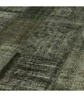Vintage tapis de patchwork couleur dark grey (410x304cm)