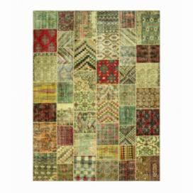 Vintage patchwork flicken teppich farbe various (410x305cm)