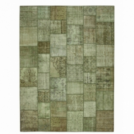 Vintage tapis de patchwork couleur natural (410x305cm)