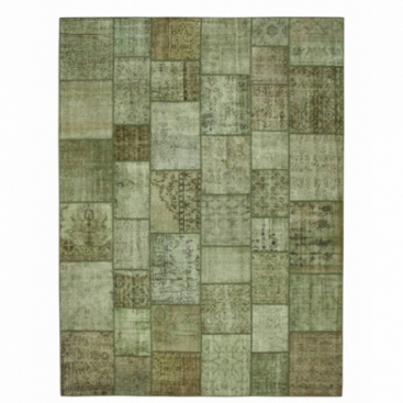 Vintage patchwork flicken teppich farbe natural (410x305cm)