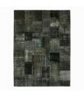 Vintage patchwork flicken teppich farbe dark grey (413x305cm)