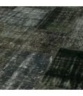 Vintage tapis de patchwork couleur dark grey (413x305cm)