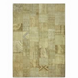 Vintage patchwork flicken teppich farbe natural (423x303cm)