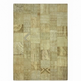 Vintage tapis de patchwork couleur natural (423x303cm)