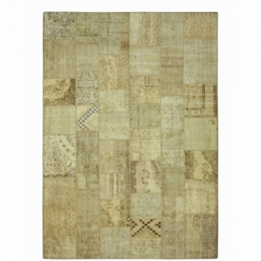 Vintage patchwork rug color natural (423x303cm)