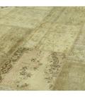 Vintage patchwork rug cor natural (423x303cm)