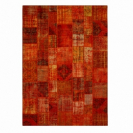 Vintage tapis de patchwork couleur orange (427x300cm)