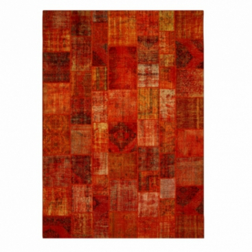 Vintage patchwork rug color orange (427x300cm)
