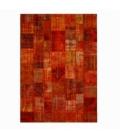 Vintage tapis de patchwork couleur orange (427x300cm)
