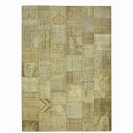 Vintage alfombra retazos color natural (428x300cm)