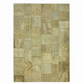 Vintage tapis de patchwork couleur natural (428x300cm)