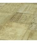 Vintage patchwork flicken teppich farbe natural (428x300cm)