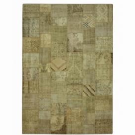 Vintage alfombra retazos color natural (429x303cm)