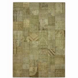 Vintage tapis de patchwork couleur natural (429x303cm)