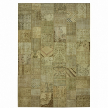 Vintage tapis de patchwork couleur natural (429x303cm)