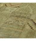 Vintage patchwork flicken teppich farbe natural (429x303cm)