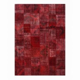 Vintage alfombra retazos color rojo (430x300cm)