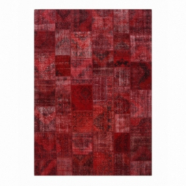 Vintage patchwork rug color red (430x300cm)