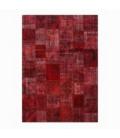 Vintage tapis de patchwork couleur rouge (430x300cm)