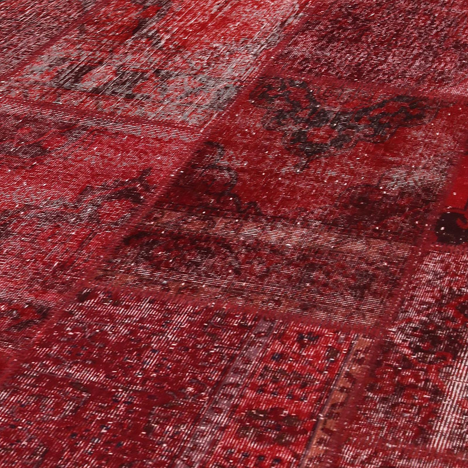 rot vintage patchwork teppich 430x300cm. Black Bedroom Furniture Sets. Home Design Ideas