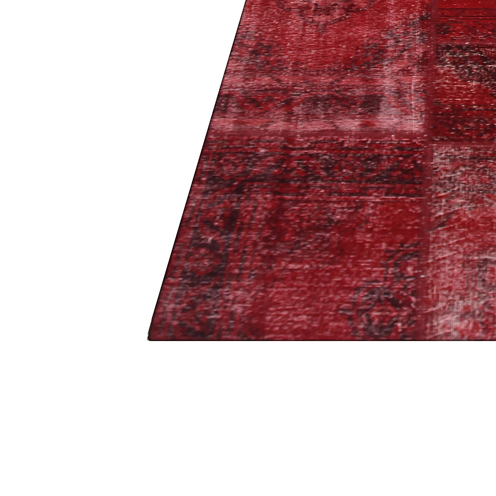 rouge vintage tapis de patchwork 430x300cm. Black Bedroom Furniture Sets. Home Design Ideas