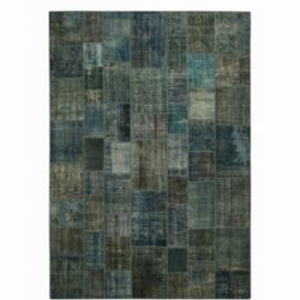 Vintage patchwork rug kleur indigo (430x300cm)