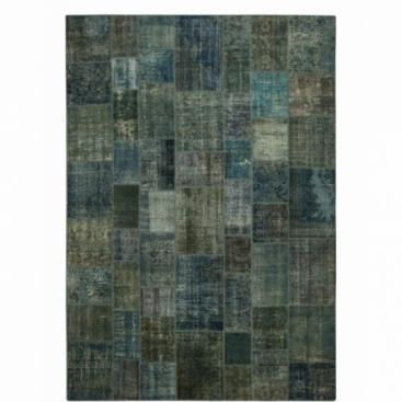 Vintage patchwork rug color indigo (430x300cm)