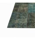 Vintage patchwork flicken teppich farbe indigo (430x300cm)