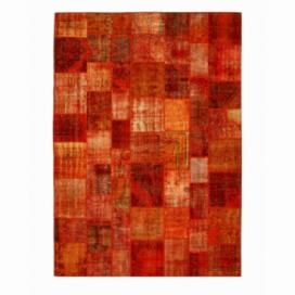 Vintage patchwork rug cor laranja (430x300cm)