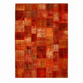 Vintage tapis de patchwork couleur orange (430x300cm)