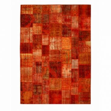 Vintage patchwork rug kleur oranje (430x300cm)